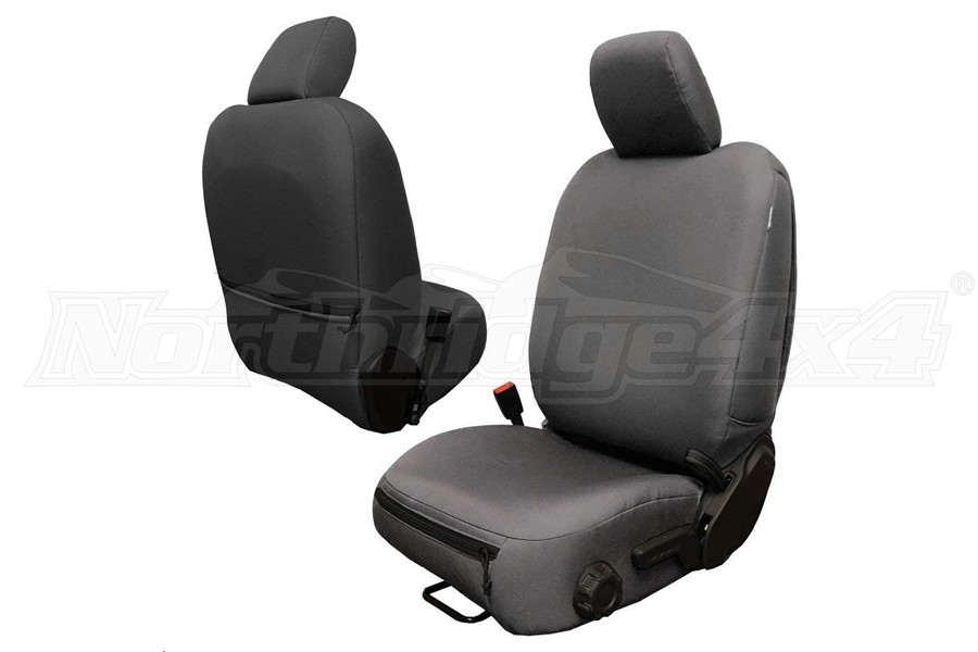 Bartact Baseline Seat Covers Front Pair Graphite - JL 4dr