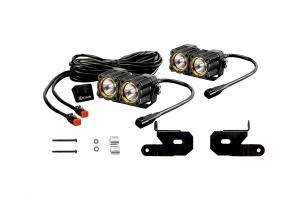 KC HiLites A-Pillar/Windshield Light Mount Kit w/ FLEX LED Dual Lights (Part Number: )