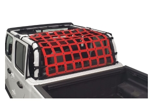 Dirty Dog 4x4 Rear Seat Netting, Red - JT