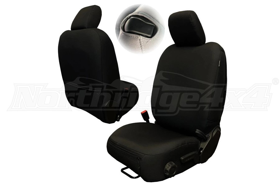 Bartact Baseline Performance Front Seat Covers, Pair - Black - JL 2Dr