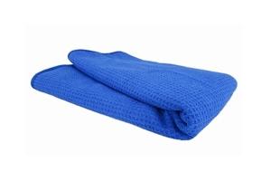 Chemical Guys Smartwax Waffle Weave Glass and Window Microfiber Towel - Blue