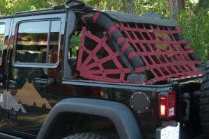 Dirty Dog 4x4 Spider Netting Rear Maroon - JK 4dr