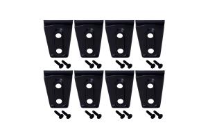Kentrol 8-Pieces Door Hinge Overlays  - Textured Black  - JK 4Dr