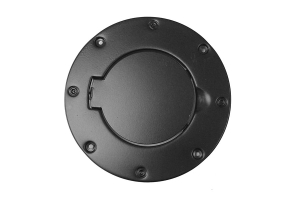 Rugged Ridge Billet Style Gas Cap Door Cover, Black  - TJ/LJ