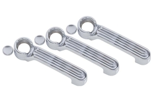 Kentrol 6-Pieces Exterior Door Handle Covers - Polished Silver  - JK