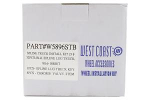 Wheel Pros 9/16 Spline Truck Wheel Lug Nut Kit Black ( Part Number: WPRW5896STB)
