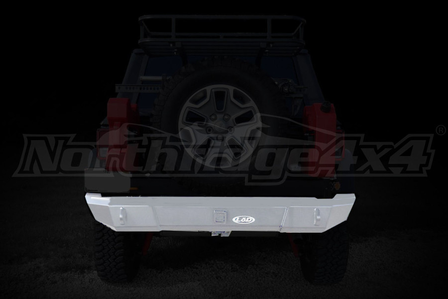 LOD Signature Series Rear Bumper w/NO Light Cutouts Bare Steel - JK