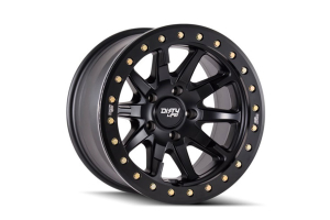 Dirty Life DT-2 Series Beadlock Wheel, Matte Black 17X9, 5x5 - JT/JL/JK