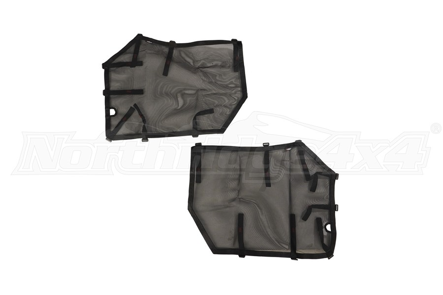 Rugged Ridge Fortis Front Tube Door Covers, Pair - Black  - JL/JT