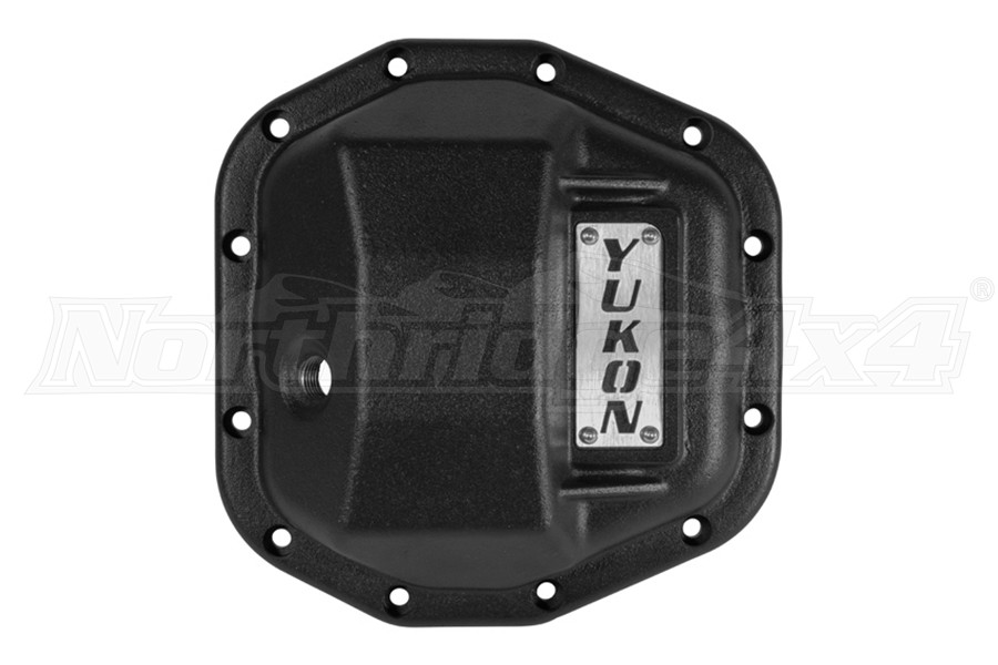 Yukon D44 Hardcore Front Diff Cover, Black - JT/JL Rubicon Only