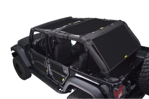 Dirty Dog 4x4 Sun Screen 3 pc Front, Back and Cargo Black (Part Number: )