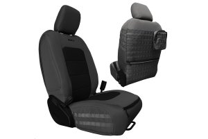 Bartact Tactical Front Seat Covers Graphite/Black (Part Number: )