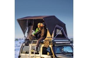 Freespirit Recreation Adventure Series Manual 55in Roof Top Tent, Grey/Black/Black