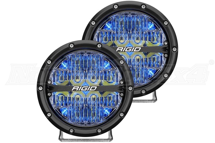 Rigid Industries 360-Series 6in LED Off-Road Spot Fog Lights, Blue - Pair