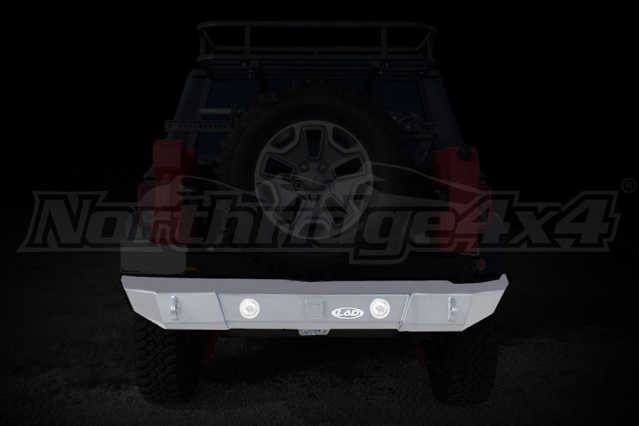 LOD Signature Series Rear Bumper w/Light Provision Bare Steel (Part Number:JRB0760)