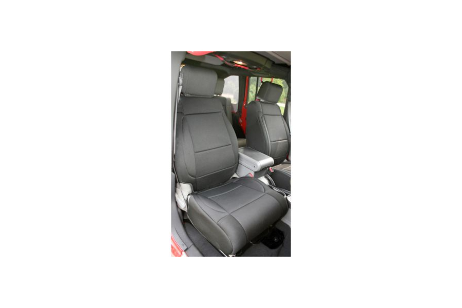 Rugged Ridge Front Seat Covers Black/Black (Part Number:13214.01)