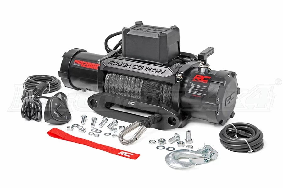 Rough Country 12000lb PRO Series Winch w/ Synthetic Rope