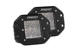 Rigid Industries Dually D-Series Pro Spector Diffused Flush Mount Pair