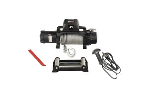 Rugged Ridge 12,500lbs Trekker Winch w/ Steel Rope and Wire Remote