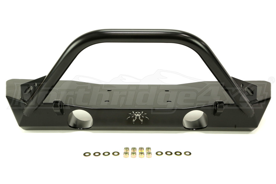Poison Spyder Brawler Lite Front Bumper w/ Brawler Bar and Tabs Black (Part Number:17-59-010-DBP1)