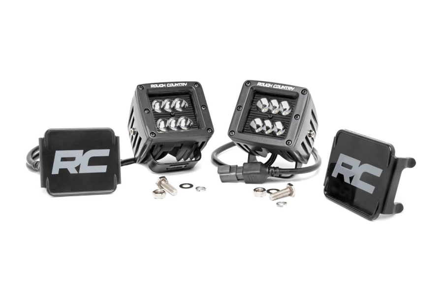 Rough Country 2in Black Series Square Lights (Part Number:70903BL)