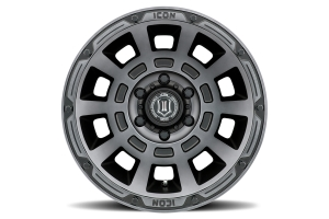 Icon Vehicle Dynamics Thrust Smoked Satin Black Wheel - 17x8.5  5x5 - JT/JL/JK