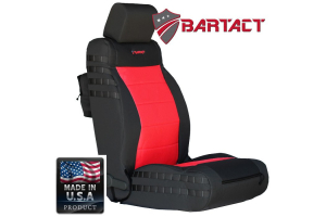 Bartact Tactical Series Front Seat Covers - Black/Red, SRS-Compliant - JK 2011-12