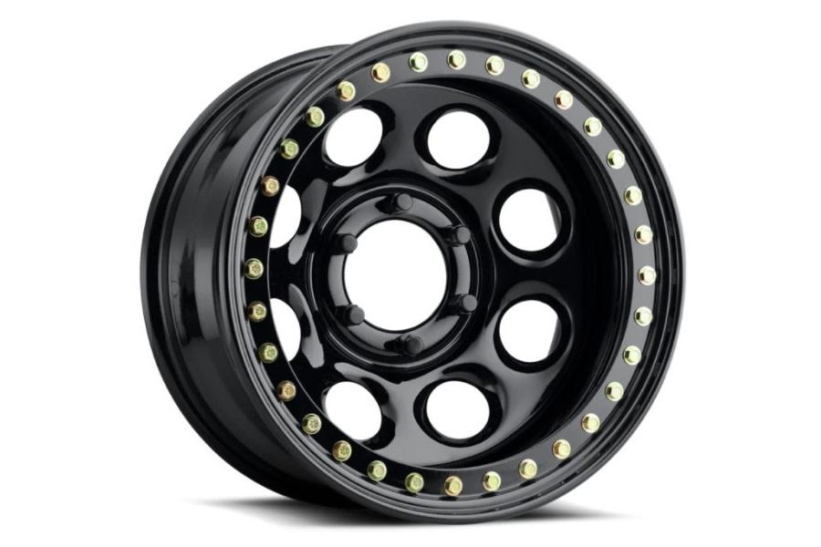 Raceline Wheels RT81 Rock 8 Series Satin Black Beadlock Wheel, 17x9.5 5x5 - JT/JL/JK