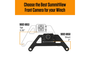 Brandmotion Tall Summitview Winch Mount Front Camera (Part Number: )