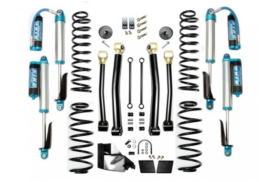 Evo Manufacturing 4.5in Enforcer Stage 3 Lift Kit w/ Comp Adjuster Shocks - JL 4Dr
