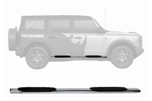 Go Rhino 4in OE Xtreme Side Steps Kit - Polished - Ford Bronco 4Dr