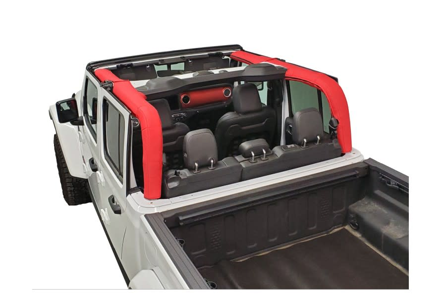 Dirty Dog 4x4 Roll Bar Cover-Red - JT w/ Hardtop