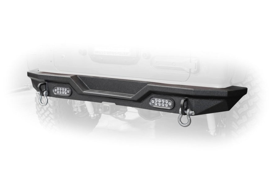 DV8 Offroad Rear Bumper w/LED Lights - JL