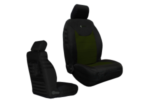 Bartact Tactical Series Front Seat Covers - Black/Olive, SRS-Complaint - JK 2013+