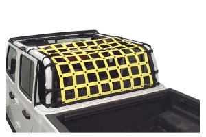Dirty Dog 4x4 Rear Seat Netting, Yellow - JT