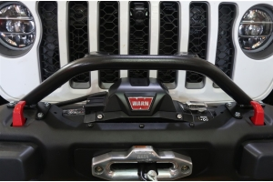 Rock Hard 4x4 Winch Guard with Light Mounts for Steel Front Bumpers  - JT/JL