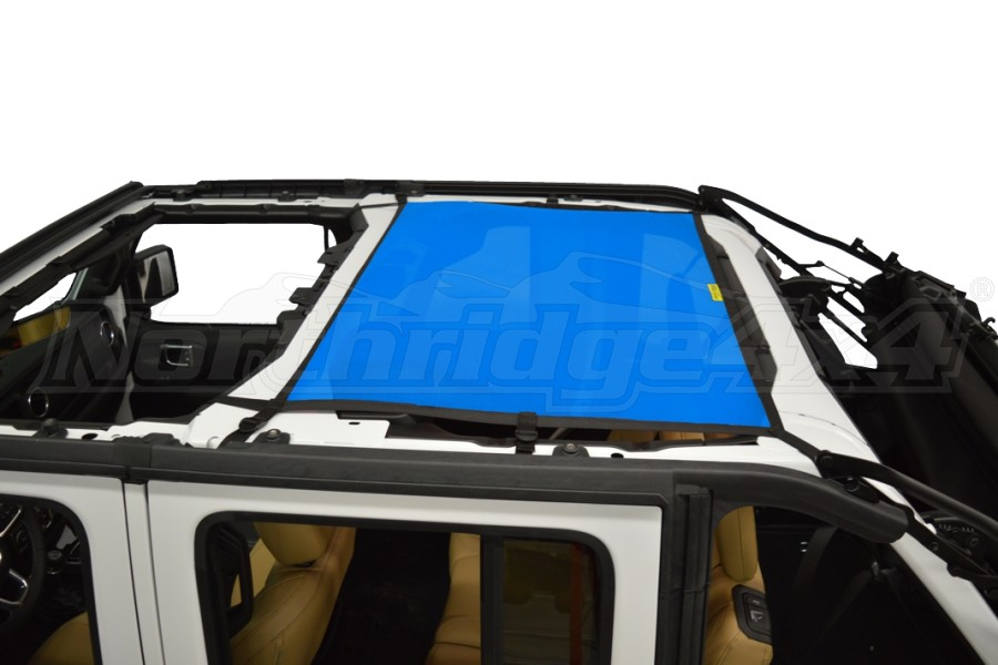 Dirty Dog 4x4 Sun Screen Rear - Blue (Part Number:JL4S18R1BL)