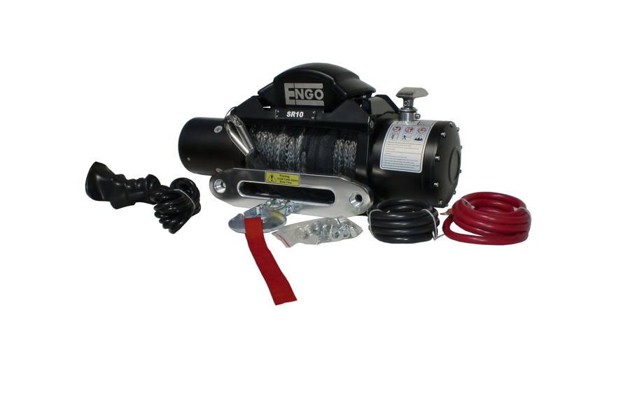 ENGO SR Series Winch w/Synthetic Rope 10,000 lb (Part Number:97-10000S)