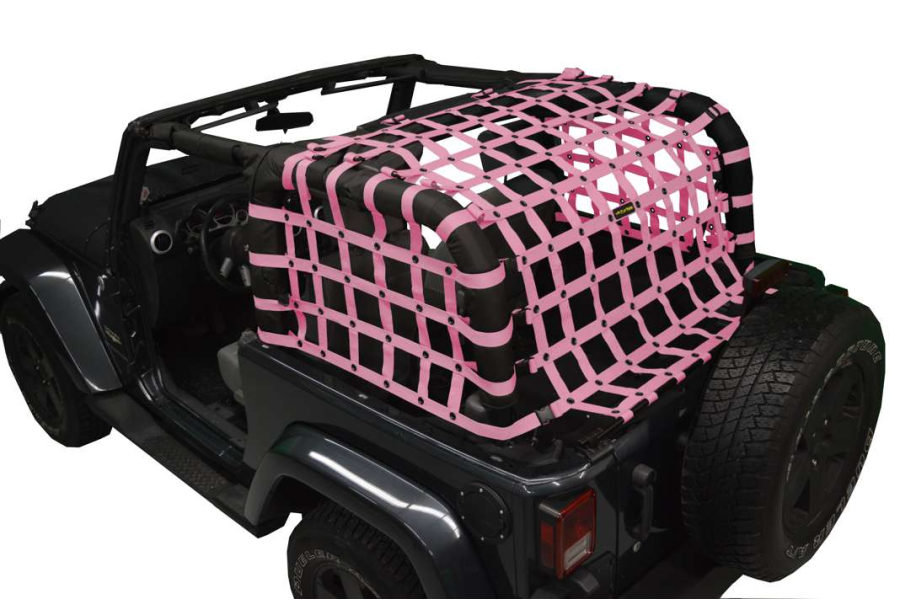 Dirty Dog 4x4 Rear Netting Pink - JK 2dr