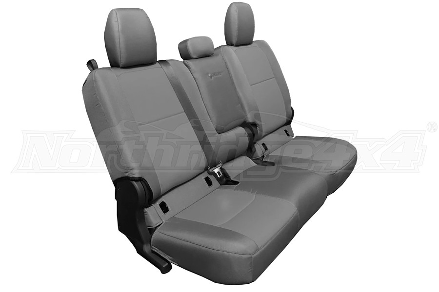 Bartact Tactical Series Rear Bench Seat Cover w/ Fold Down Arm Rest - Graphite/Graphite - JT