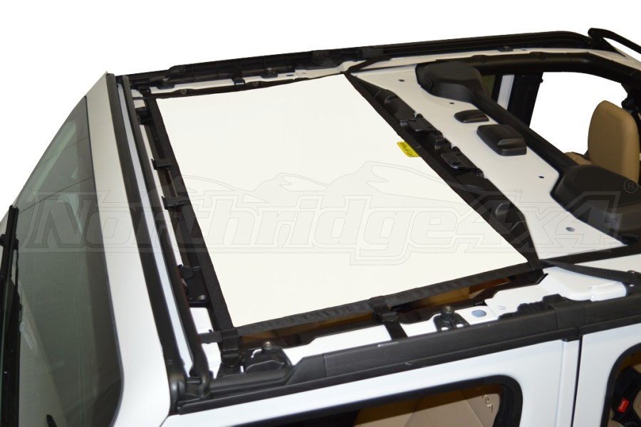 Dirty Dog 4x4 Sun Screen Front - White (Part Number:JL4S18F1WH)
