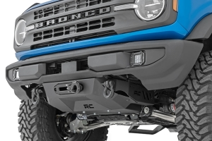 Rough Country Hidden Winch Mount w/ 12000S Winch - Ford Bronco