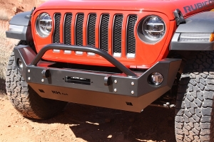Rock Hard 4x4 Patriot Series Mid Width Front Bumper with Lowered Winch Plate, Steel (Part Number: )