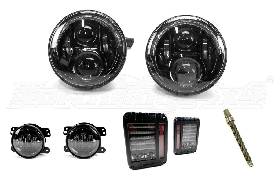 Jw Speaker Lights : Jeep jk jw speaker evolution j series headlight kit
