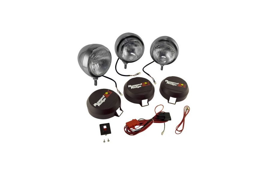 Rugged Ridge HID Fog Light Kit 6in Black (Part Number:15206.61)