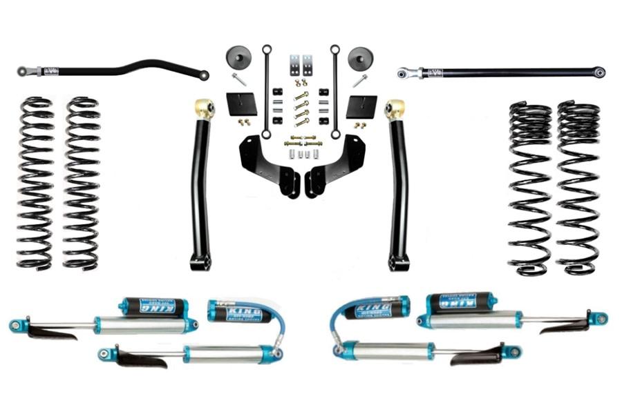Evo Manufacturing 2.5in Enforcer Overland Stage 2 Lift Kit w/ Comp Adjuster Shocks - JT
