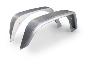 Poison Spyder Extra Wide Rear Crusher Corners Aluminum Bare (Part Number: )