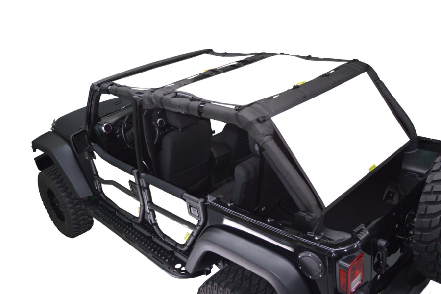 Dirty Dog 4x4 Sun Screen Front and Back Seats White (Part Number:J4SS07F2WH)