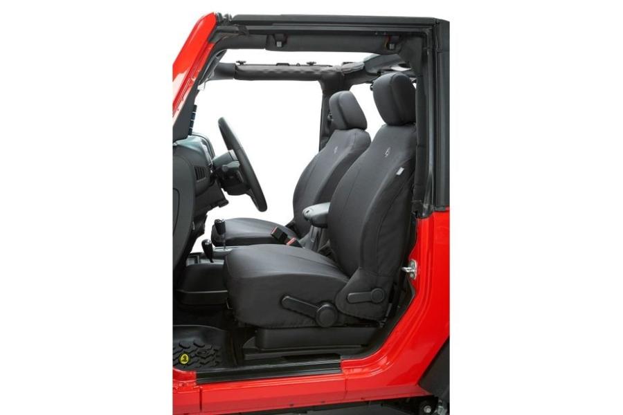Bestop Front Seat Covers Black Diamond - JT/JL 4dr