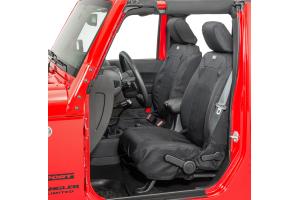 Rugged Ridge Elite Ballistic Heated Front Seat Covers, Black   - JK 2011+